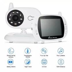 Monitor de bebé para dormir Color Video Monitor inalámbrico para bebé 3,5 pulgadas LCD Radio DE SEGURIDAD Nanny Nigh Vision LED monitoreo de temperatura