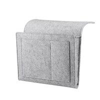Promoção -- cabeceira caddy sentiu organizador de armazenamento de cabeceira com bolso extra para quarto dormitório beliche ou loft camas sofá luz gra