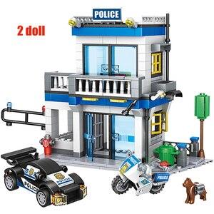 Image 5 - 746 pçs cidade polícia estação blocos de construção militar helicóptero swat ww2 carro equipe tijolos brinquedos educativos crianças