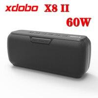 Altavoces Subwoofer para exteriores Bluetooth Inalámbrico Caja de sonido de alta fidelidad portátil con DJ X8II XDOBO 60W Water Audio IPX5 Proof Speaker