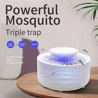 Nova armadilha assassino do mosquito controle inteligente armadilha da mosca do fruto  assassino interno  armadilha pegajosa da colagem com luz uv  usb alimentado|Lâmpadas p/ matar mosquito| |  -