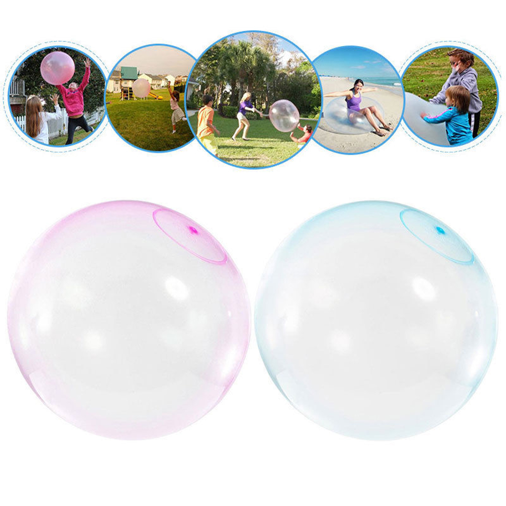 TPR Balloon Outdoor Transparent Bubble Ball Inflatable Toy Balls Super Tear-Resistant Inflatable For Kids Fun Sport Play Toys