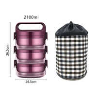 Thermos Lunch Bento Box For Student Portable 304 Stainless Steel Multi Layer Food Storange Container Leakproof Thermal Lunchbox