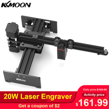 Kkmoon 7000mw/20 w desktop gravador a laser cnc cortador de gravação a laser diy cnc roteador impressora a laser para metal profundo gravura em madeira