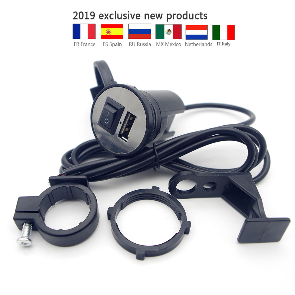 Motorcycle USB Charger FOR YAMAHA Exciter 150 Ybr 125cc Quad Jog Scooter Ybr125 Virago Vmax 1200 Dragstar Xvs 650 Dragstar