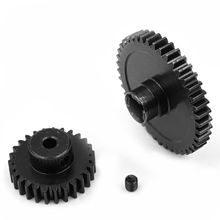 цена на Hot Sale New Metal Diff Main Gear 42T + Motor Gear 27T For 1/18 WLtoys A959-B A969-B A979-B K929-B RC Car Upgrade Parts
