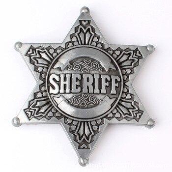 Sheriff Belt Buckle homemade handmade belt Components waistband DIY Western cowboy police printio sheriff