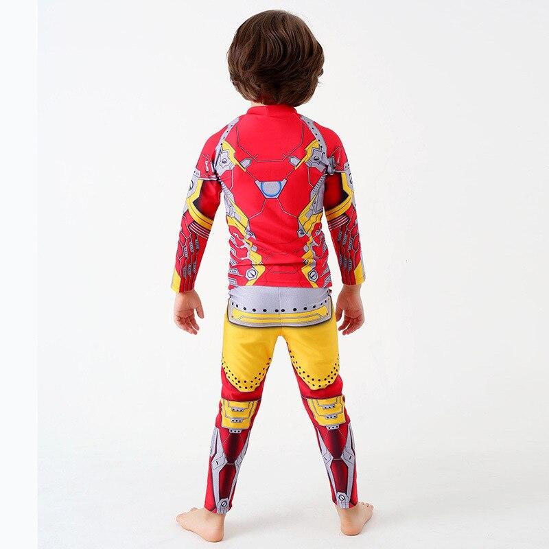 KID'S Swimwear Boy Item Split Type Long Sleeve Sun-resistant Safe Swimming Suit Big Boy Genuine Product