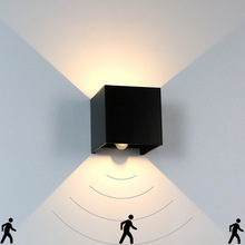Motion Sensor Light Outdoor Wall 12W Up Down Black White