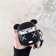 Wireless Bluetooth Earphone Case Silicone Bear pochette airpod Cover For Apple AirPods pro 3 Cases F