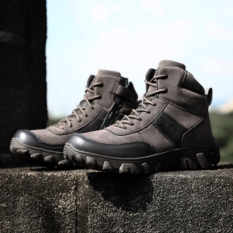 Autumn And Winter Men's Lightweight Waterproof Shoes Dirt Breathable Low Top Tactical Combat Boots Wear-Resistant Hiking Shoes L