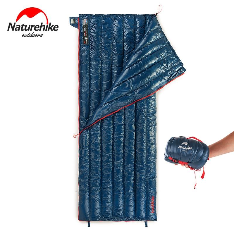 Naturehike CW280 軽量 3 シーズンコンパクト長方形ガチョウダウンキャンプ寝袋夏防水ハイキング寝袋  グループ上の スポーツ & エンターテイメント からの 寝袋 の中 1