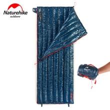 Naturehike CW280 Lightweight 3 Season Compact Rectangular Goose Down Camping Sleeping Bag Summer Waterproof Hiking