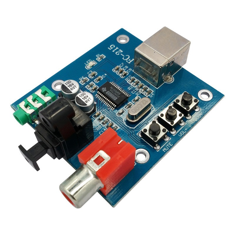 PCM2704 Audio DAC USB to S/PDIF Sound Card hifi DAC Decoder Board 3.5mm Analog Coaxial Optical 16bit <font><b>32KHz</b></font>/44.1KHz/48KHz A1-010 image