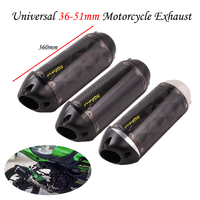 Universal Motorcycle USA Two Brother Exhaust Pipe Escape Modified 51mm Carbon Fiber Muffler Sticker For R3 Z900 K7 R6 ATV MT09