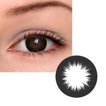 2Pcs/pair Mrs.H Black Eye Contacts Natural Colored Eye Conta
