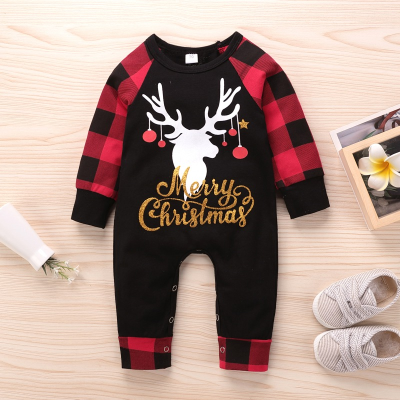 HIPAC Baby Christmas Clothes Newborn Kids Boy Girl Rompers Carnival Costume Festival Jumpsuit for Boys Girls Infant Outfit Plaid | Happy Baby Mama