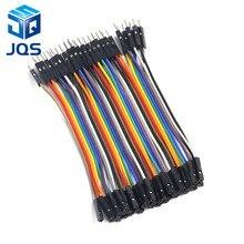 40 шт 10 см 2,54 мм 1pin 1 p-1 p Мужской Женский Соединительный провод Dupont кабель для arduino