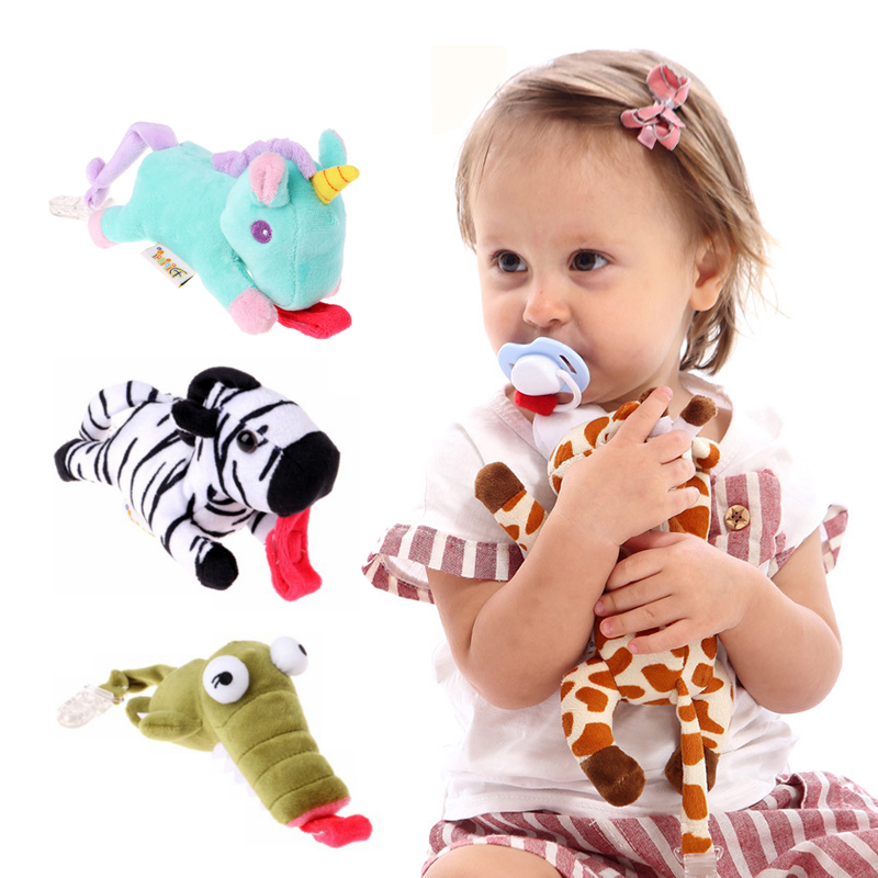 Plush Doll Baby Dummy Pacifier Chain Clip Animal Toys Boy Girl Soother Nipple Holder (not Include Pacifier)