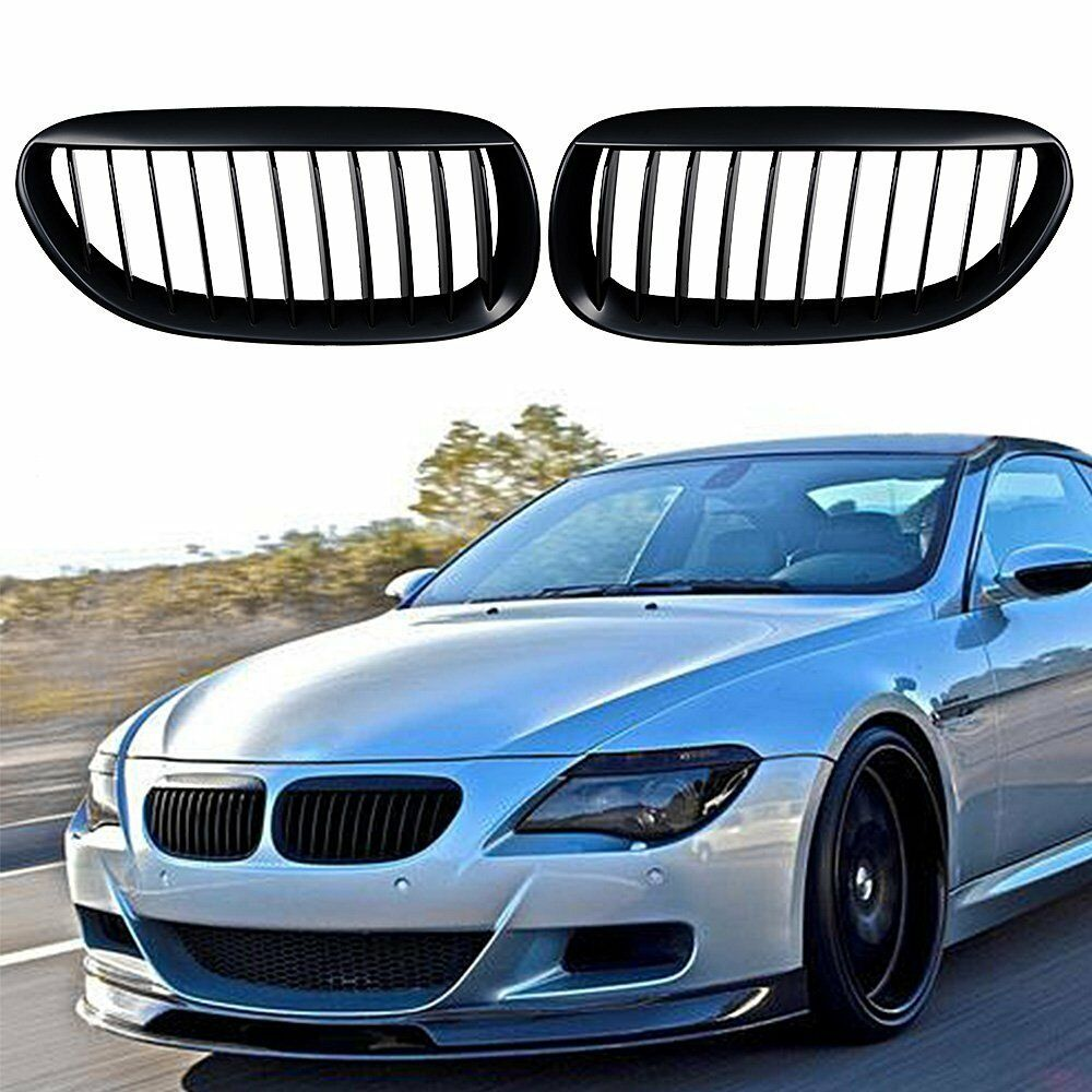 Car Front Kidney Grill Bumper Kidney Grille 6 Series Coupe Convertible For BMW E63 E64 2004 - 2010 630i 650i  Replacement