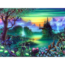 DIY Diamond Embroidery Fantasy Wonderland Square Pattern Rhinestone Sets Diamond Painting Cross Stitch Wall Decor Needlework