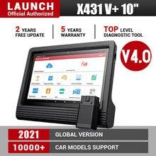 Original launch x431 v + 10 polegada tablet ferramenta de diagnóstico do carro profissional almofada digitalização automática scanner automotivo universal ecu codificação
