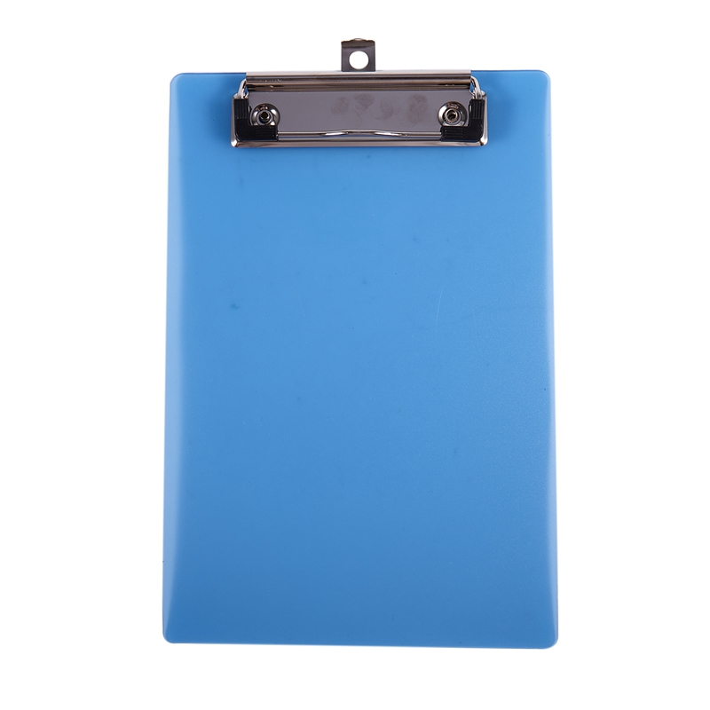 Office School Spring Loaded A5 Paper Holding File Clamp Clip Board Blue