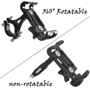 Image 3 - 2019 New Bicycle Mobile Phone Holder Aluminum alloy Anti shock Phone Holder Bike Phone Holder Cycling Bracket Mount Bike Rack