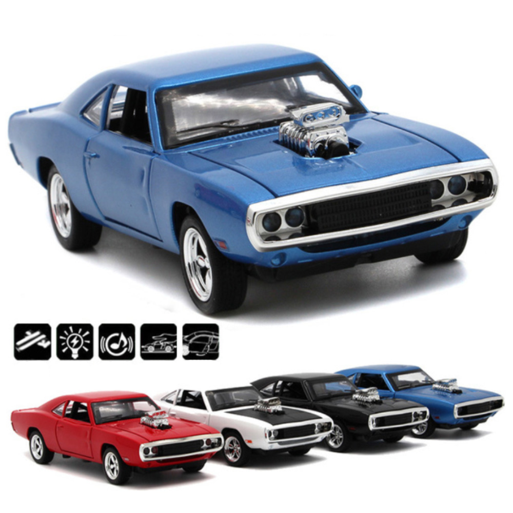 1:32 Scale Fast And Furious Model Cars To 1970 Dodge Charger Car Alloy Toy Diecast Toys For Boy Kids Gift