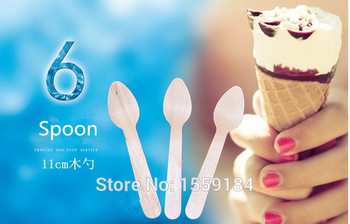 Ice Icream Mini Spoons 500pcs SMALL Disposable Wooden Spoons/Wooden Utensils Mini Dessert Spoons Wood Silverware фото