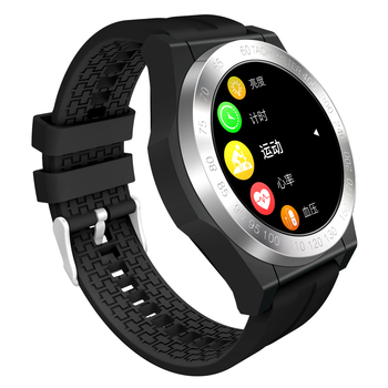 CK25 Smart Watch 1.3Inch Full Round Color Screen Fitness Band 24H Heart Rate O2 Monitor Leather Strap Smart Watch Men