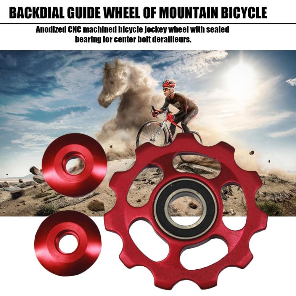 Aluminium Alloy Jockey Wheel 11T Bicycle Tension Wheel Rear Derailleur Pulley Guide Pulley Cycling Bike Accessories
