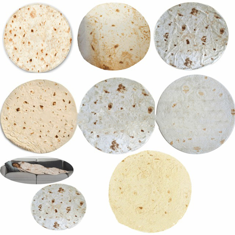 180 cm Round Tortilla Food Burrito Blanket Perfectly Home Decoration 2