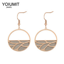 Cremo New Branches Earrings for Women Stainless Steel Earrings Drop Hanging Earrings Pendant Leather Dangle Earrings Jewelry