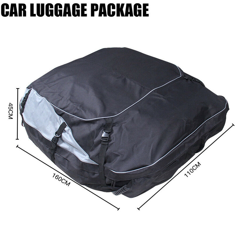 160x110x45cm Universal Waterproof Car Roof Top Rack Bag Cargo Carrier 13
