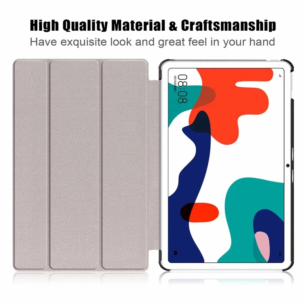 Tablet Case For Huawei MatePad 10.4 case BAH3-W09 BAH3-AL00 Slim PU Leather Cover for Huawei Honor V6 Case Smart Shell+Film+Pen
