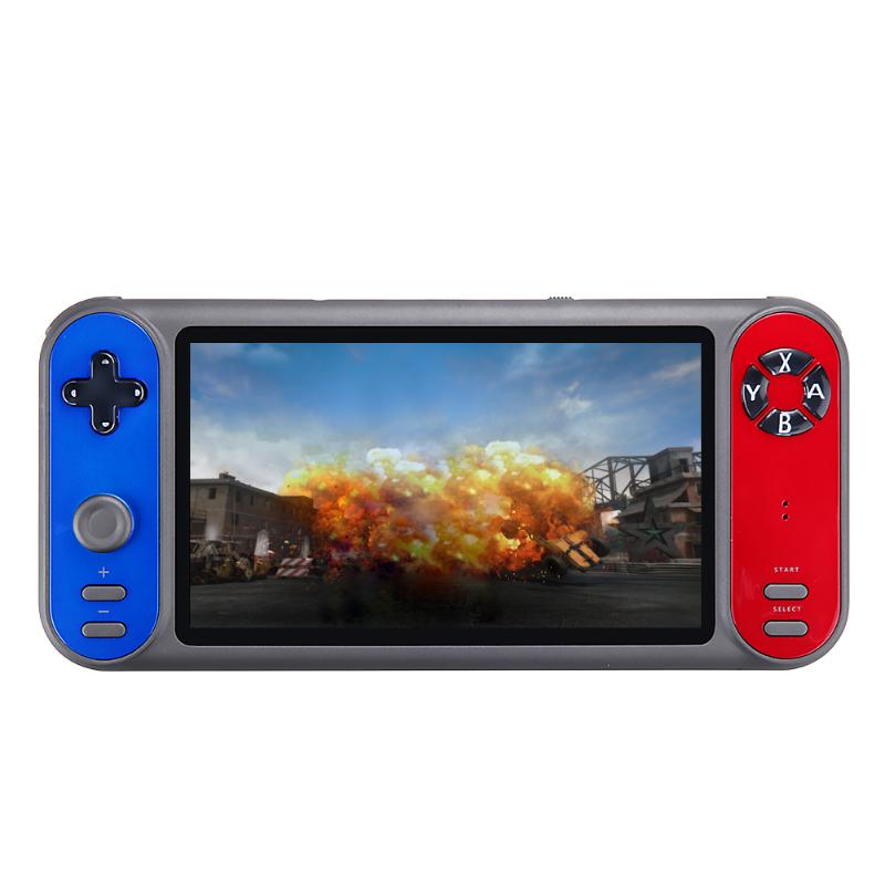 COOLBABY RS-17 Portable Retro Handheld Game Console 7 Inch HD Screen Video Game Player Support Two-player HDMI TV Output TF Card