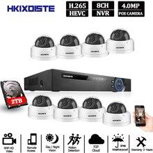 Cámara IP H.265 NVR POE de 8 canales, 16 canales, 5MP, 8 Uds., 48V, supertransparente, 4MP, kit de cámara IP de seguridad, conjunto de vigilancia de vídeo CCTV, NVR