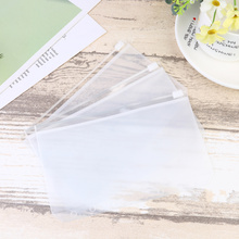 A6 File Organizer Documents Storage-Bag Zipper Transparent PVC for White White