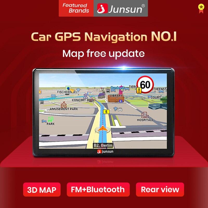 Junsun 7 pulgadas HD GPS Del Coche de la Navegación FM 8 GB Actualización Gratuita Navitel Mapa de Europa automóvil Camión de navegadores gps Sat nav navegador gps coche
