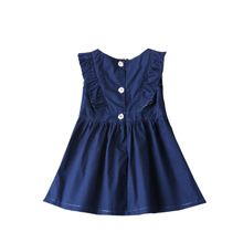 kids dresses for girls Summer Girl Dress Children Cotton Sleeveless Dresses Fashion Clothing  Cute little toddle