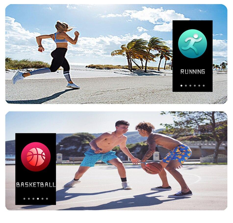 H8bedd90c9d774978a6b690c1994c24d27 1.14 Smart Band Weather Display Blood Pressure Heart Rate Monitor Fitness Tracker Smart Watch Bracelet Waterproof Men Women Kids