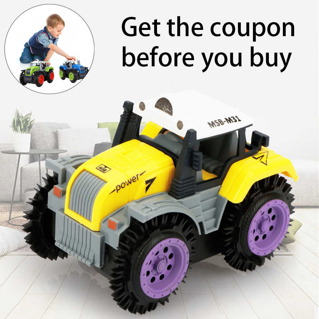 Remote Control Car Children Dump Truck Simulation 4 Wheels Drive Jeep Electric Stunt Toy Car  Monster Truck RC Off Road MAR20