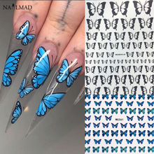 Foils Decorations Wraps Nail-Transfer-Decals Flowers Butterfly Adhesive-Sliders Colorful