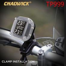 Sistema de Monitoreo de presión de neumáticos a prueba de agua para motocicleta en tiempo Real pantalla LCD inalámbrica TPMS sensores externos de calidad chadick 999