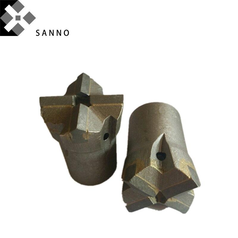 Bocados de perfuração de rocha dura de alta qualidadecinzel de pedra d32mm pontas de brocas de núcleo d100mm atarraxamento cruz para perfuração de rocha