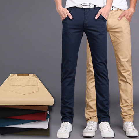 Summer Fashion Men's Trousers Students Straight-Cut Youth MEN'S Casual Pants Men's Slim Fit BOY'S Spring And Summer Autumn Long