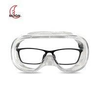 Lua anti nevoeiro segurança ciclismo óculos de proteção transparente à prova de poeira totalmente profissional adequado para óculos de máscara|  -