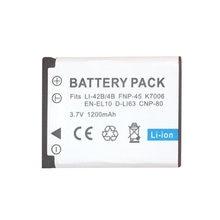 1 PIÈCES 1200mAh EN-EL10 EN EL10 LI-42B Li-40B LI42B 40B Batterie pour Appareil Photo nikon OLYMPUS U700 U710 FE230 FE340 FE290 FE360