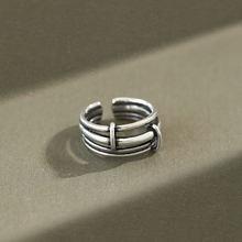 Кольцо женское многослойное из серебра 100% пробы 925